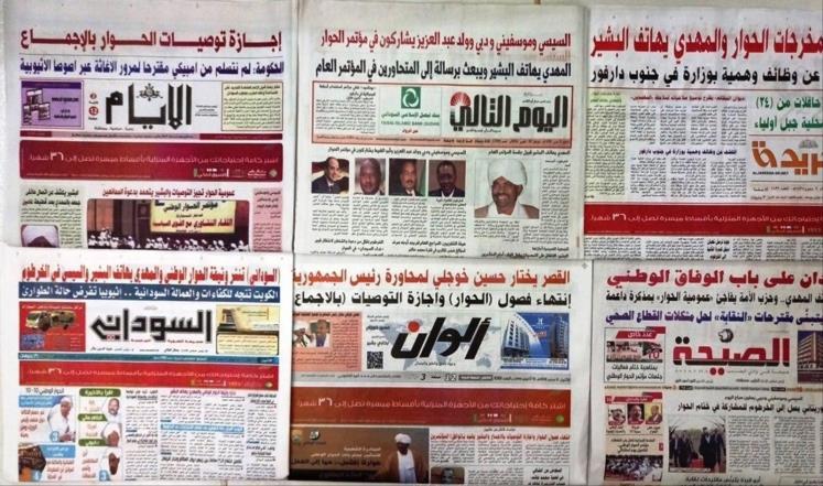 أبرز عناوين الصحف السياسية السودانية الصادرة يوم السبت 13 يناير 2018م
