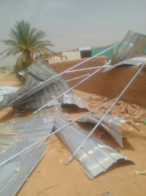 بالصور: إصابات وخسائر فادحة في الممتلكات من جراء عاصفة إجتاحت محلية الدبة شمالي السودان