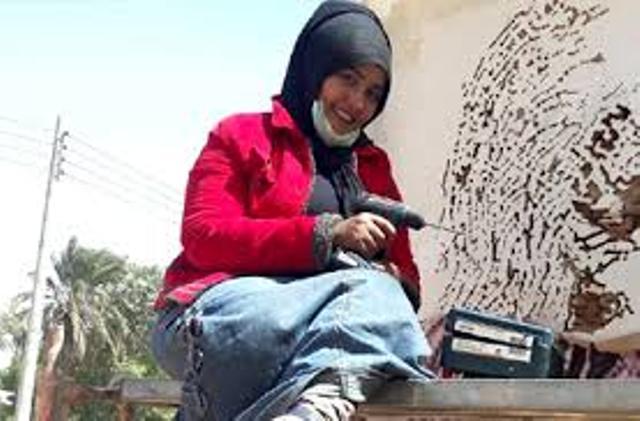 """المحكمة تنتصر للفنانة التشكيلية """"إيثار عبد العزيز """" وتشطب دعوى المحلية ضدها"""