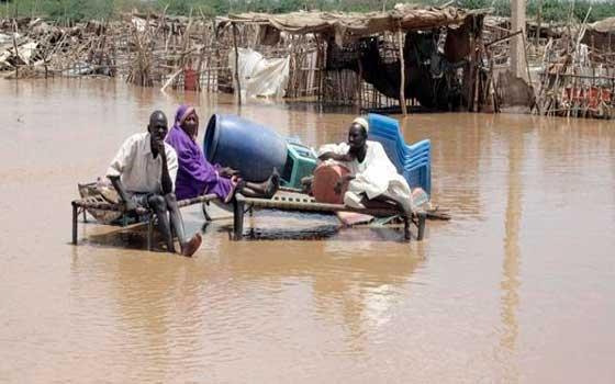 سيول وفيضانات تجتاح منطقة الفتح والإسكان