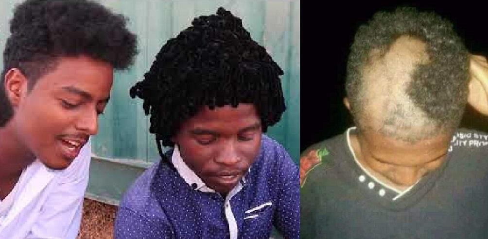 بالفيديو : شباب يستخدمون (الباروكة) بعد حادثة قص الشعر التي نسبت لقوات الدعم السريع ونفتها السلطات