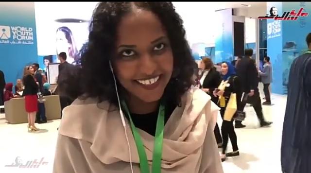 بالفيديو … إيثار السودانية  : شاركت في أغاني وحدة مصر والسودان في ختام منتدى شباب العالم