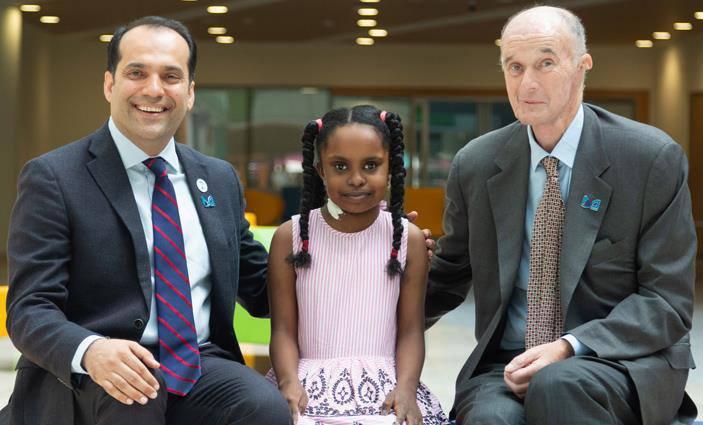 نجاح أول عملية زراعة كلى للأطفال في دبي للطفلة السودانية بانة