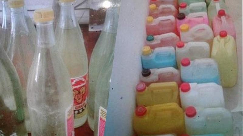 ضبط مصنع عشوائي يستخدم مواد كيميائية لتصنيع بدرة الأطفال