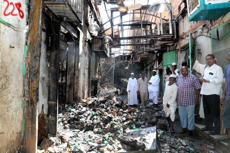 """""""المركزي"""" لم يلتزم باستبدال الأوراق النقدية لضحايا حريق سوق أم درمان"""