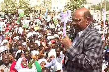 البشير لأهل نيالا : المظاهرات وراها ناس ما عاجبهم استقرار السودان