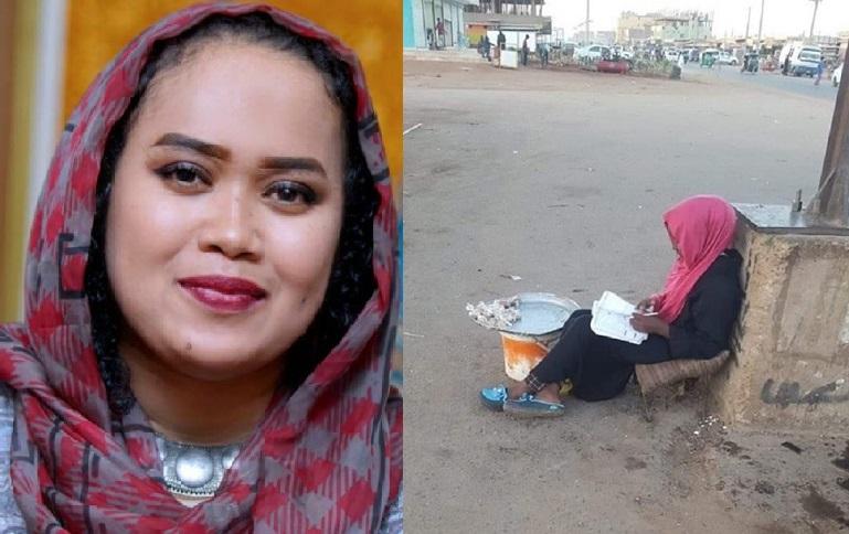كاتبة صحفية ومذيعة تبحث عن (بائعة تسالي) تذاكر دروسها في الشارع العام