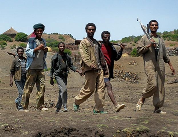 مليشيات إثيوبية مسلحة تتوغل (5) كيلو داخل الحدود السودانية