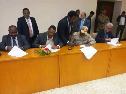 """""""العسكري"""" و""""قوى التغيير"""" يكملان ترتيبات الاحتفال بتوقيع على الوثيقة الدستورية"""