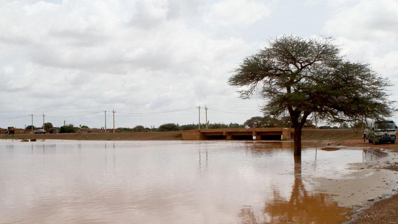 الأمطار تسبب خسائر وأضرارا بمحلية أم رمتة