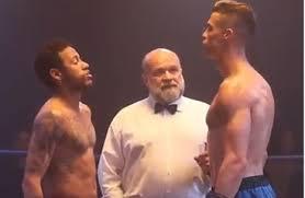 بالفيديو : رونالدو ونيمار وجها لوجه على حلبة الملاكمة