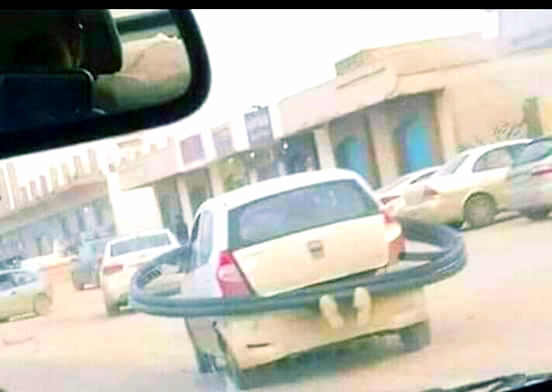 """بالصورة: """"كوكب زحل"""" في شوارع الخرطوم يثير دهشة وسخرية مواقع التواصل"""