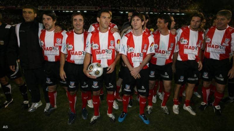 عندما لعب ميسي لأتلتيكو مدريد.. ما قصة هذه الصورة؟