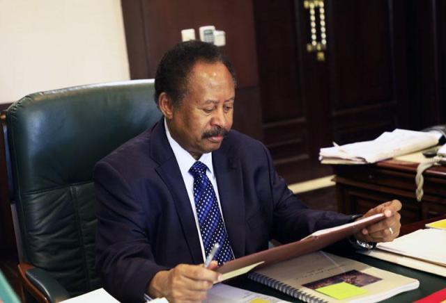 حمدوك ليس قلق من التصعيد مع إثيوبيا ويتوقع سرعة حذف السودان من قائمة الارهاب