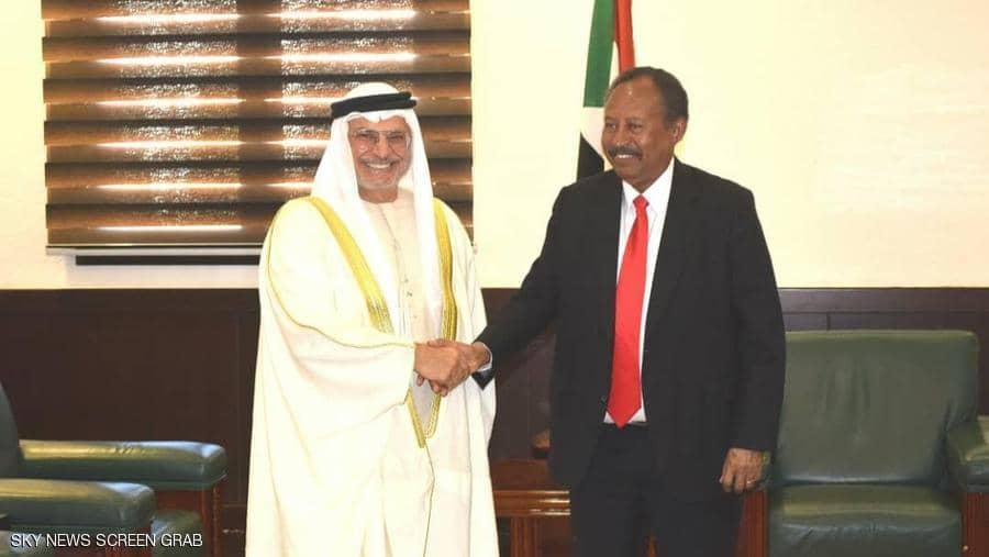 حمدوك يؤكد حرص السودان على تعزيز العلاقات مع الإمارات