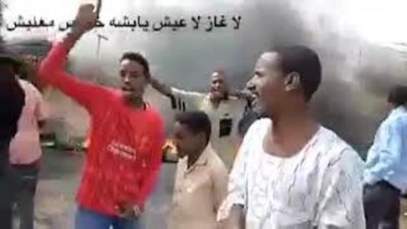 فيديو.. متظاهرون في السودان يهتفون: (لا غاز لا عيش يا بشة خلاص معليش)