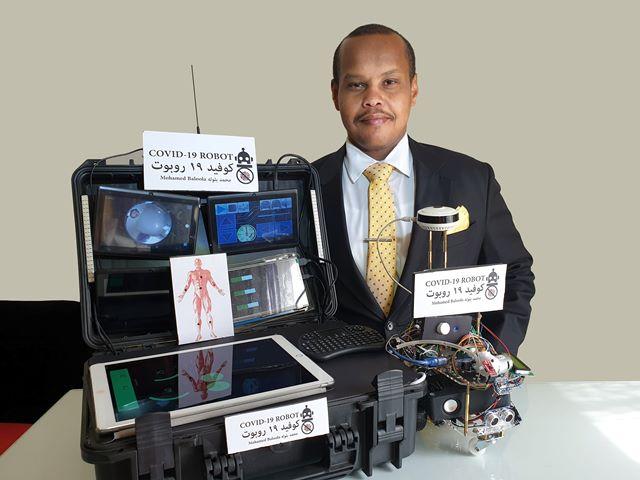 مهندس سوداني بدولة الامارات يبتكر روبوتاً يرصد مصابي كورونا عن بعد