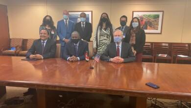 صورة اتفاق تاريخي بين أمريكا والسودان توقف بموجبه الأحكام والمطالبات ضد الخرطوم في المحاكم الأمريكية